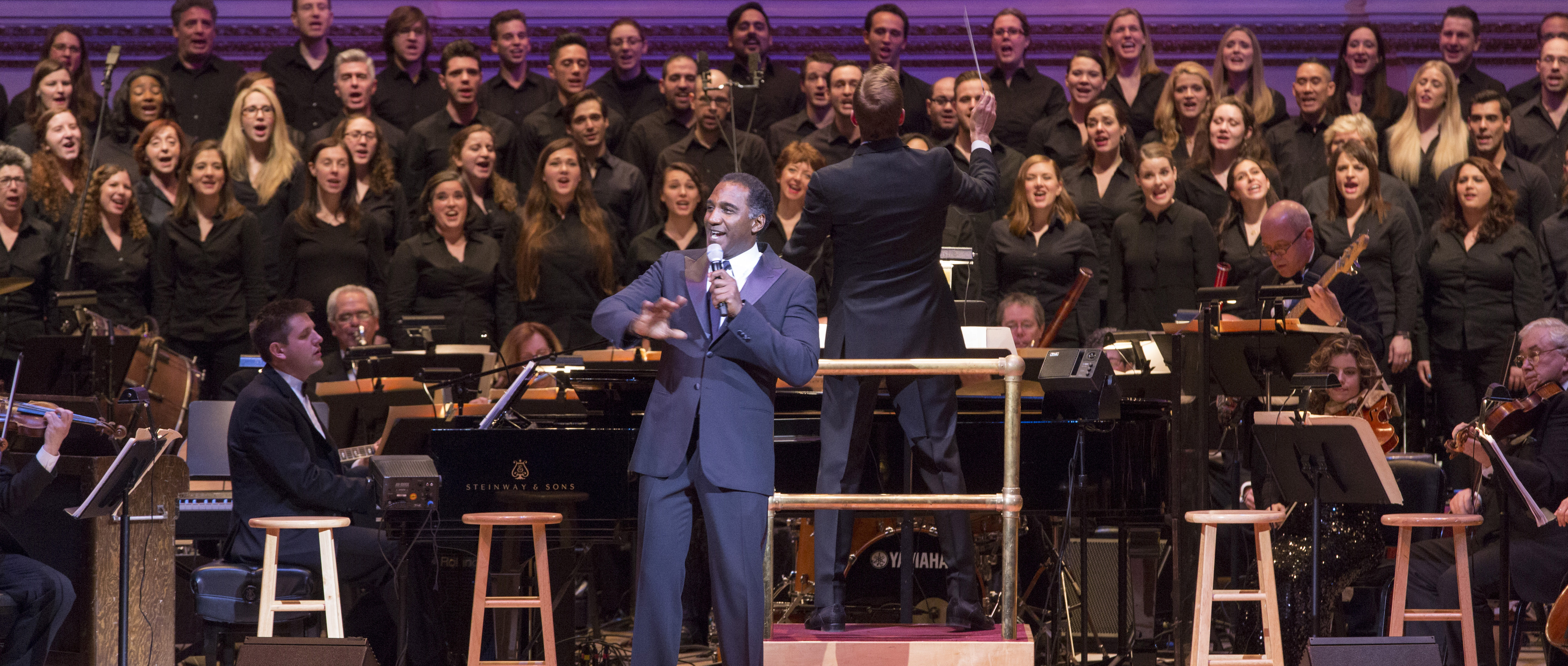 Norm Lewis performs with The New York Pops
