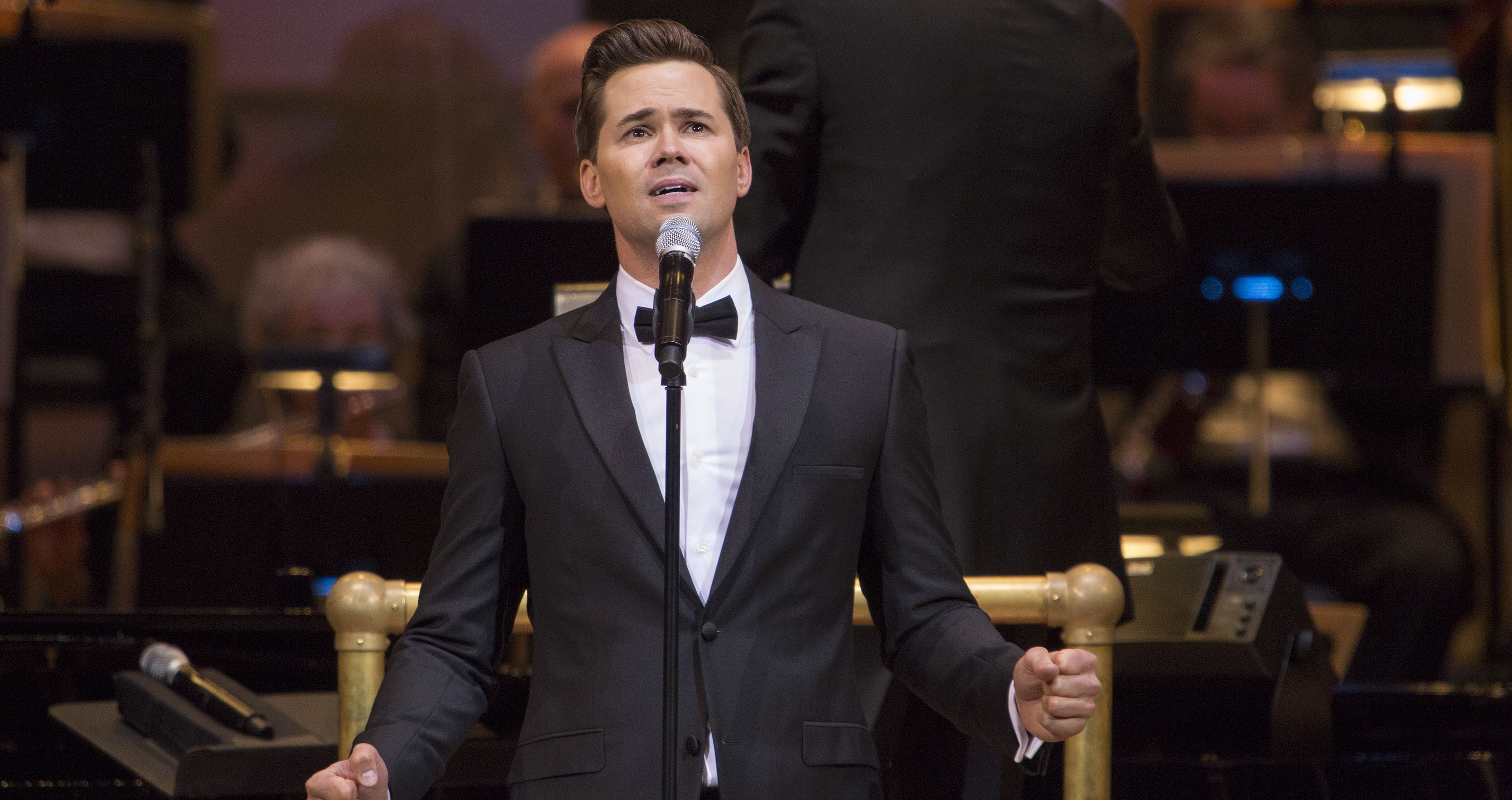 Andrew Rannells performs with The New York Pops