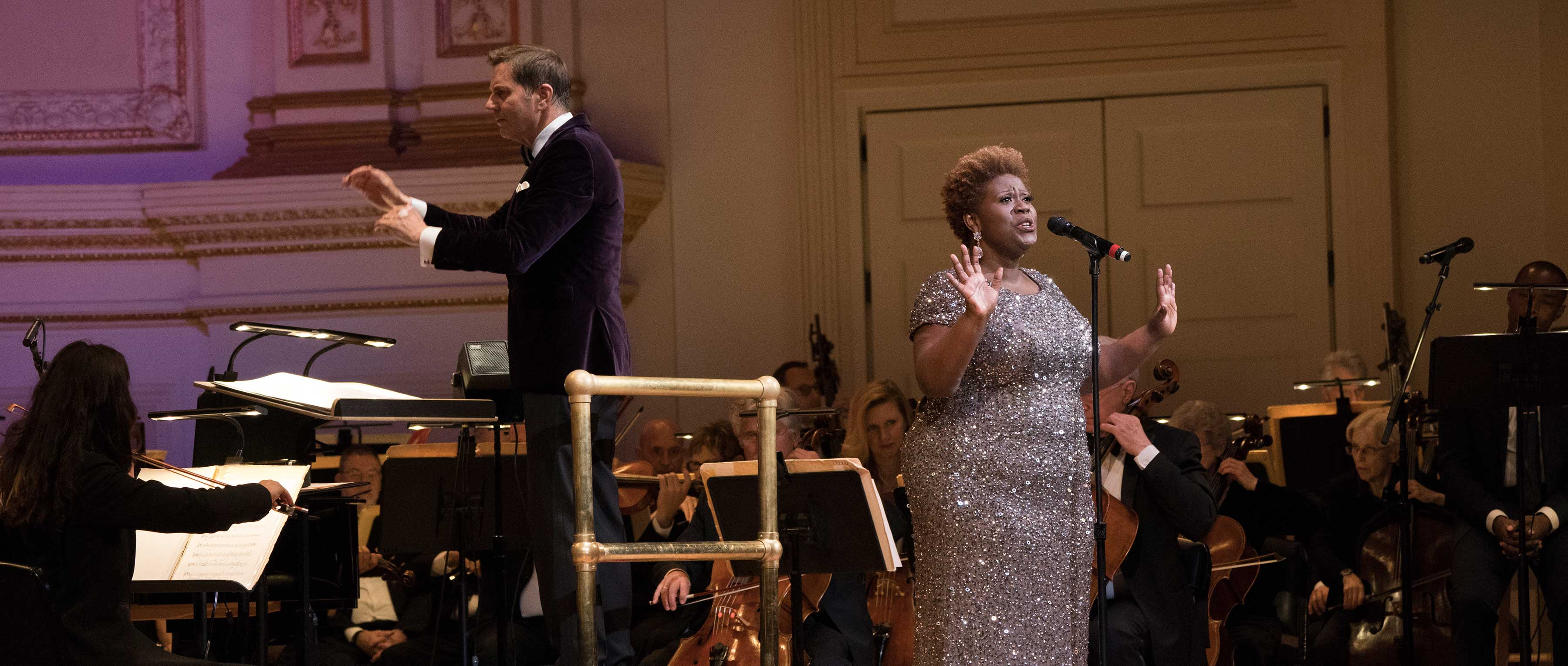 Capathia Jenkins performs with The New York Pops