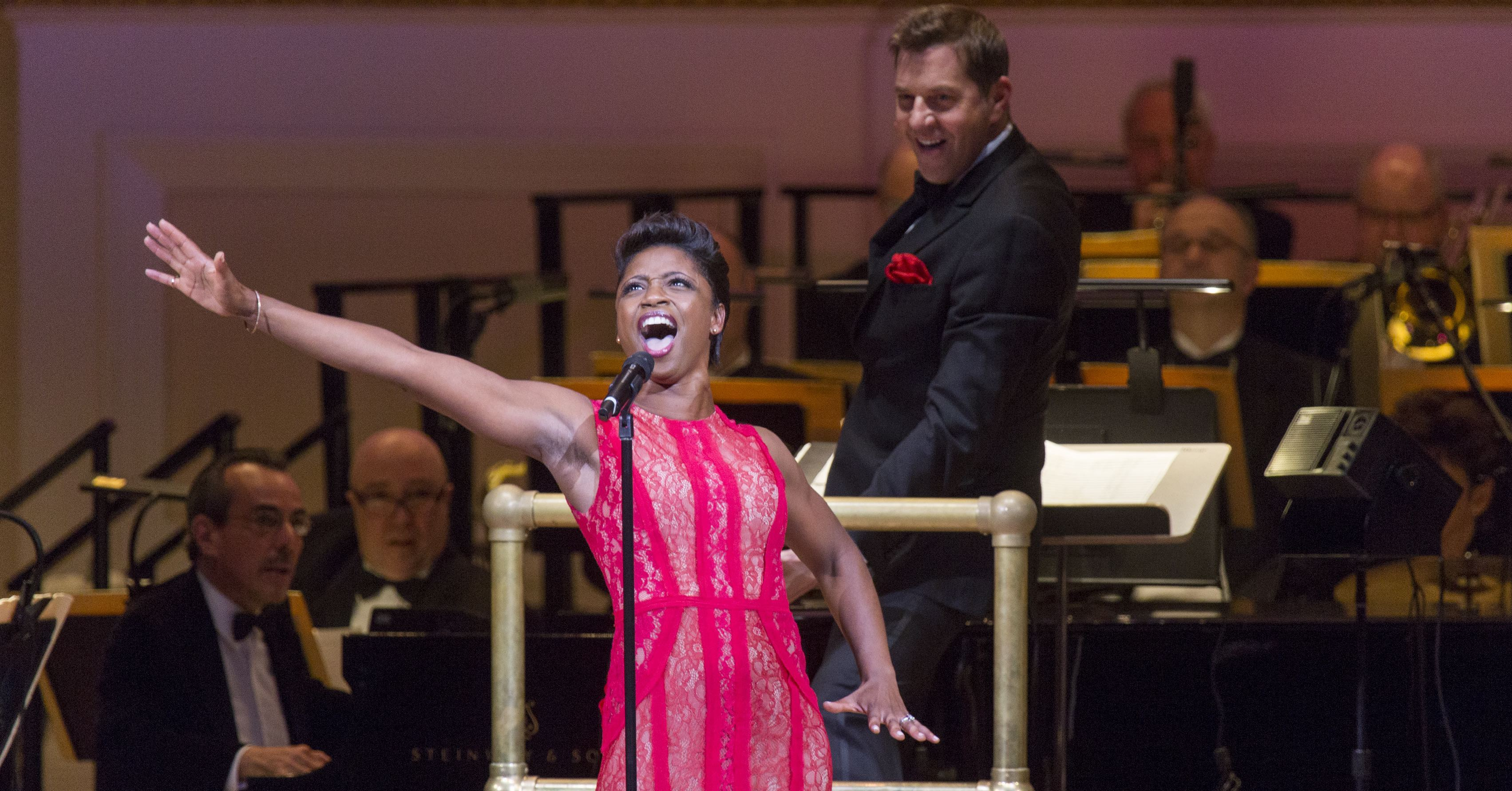 Montego Glover performs with The New York Pops